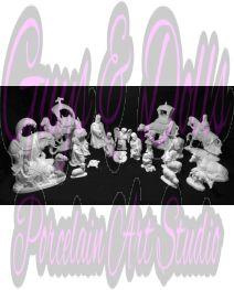 Provincial Nativity Bisque Set